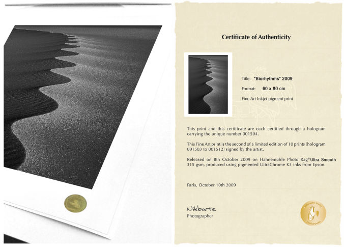 NikBarte's Fine Art print with Hologram and Certificate of Authenticity